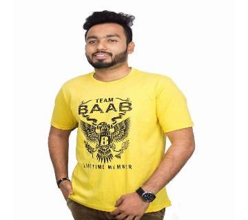 Yellow BAAB T-shirt for men