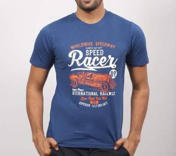 Blue Racer round neck cotton t-shirt for men
