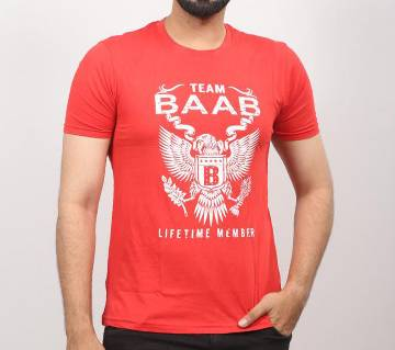 Red BAAB Cotton T-Shirt for men