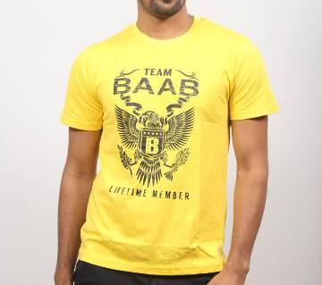 Yellow BAAB Cotton T-Shirt for men