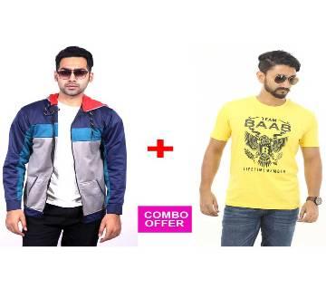 Ash & Black Hoodie + BAAB T-Shirt Combo Offer