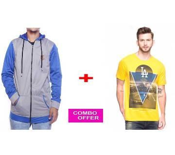 Ash Hoodie + LA T-Shirt Combo Offer