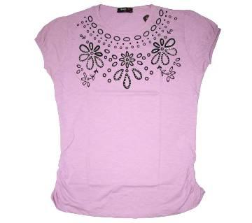 Floral Design Ladies T Shirt