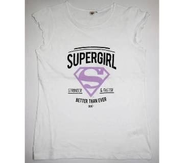 Supergirl Baby Girls Cotton Printed Girls Tshirt