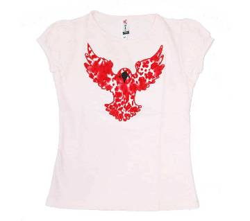 Light Pink Eagle Tshirt For Girls