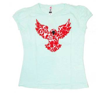 Light Lime Eagle Tshirt For Girls