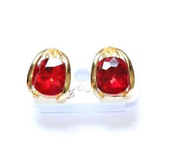 Glossy Maroon Designer Earrings