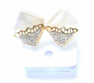 Glossy Off White Designer Earrings