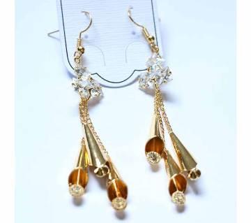 Gold Plated Stone Designer Earrings