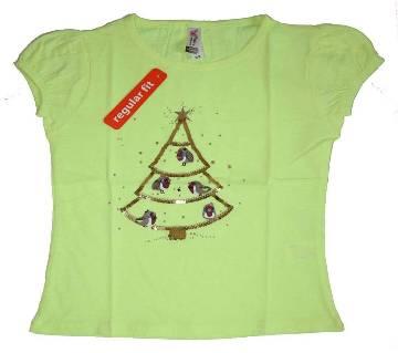 X-Mass Tree Baby Girls T-Shirt