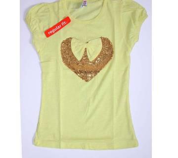 Cute Love Shape Girls T-shirts