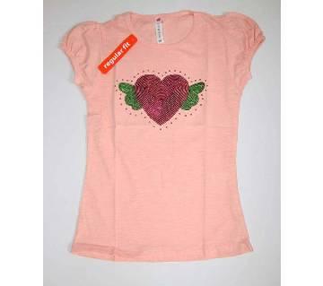 Cute Love Butterfly Girls Tshirt