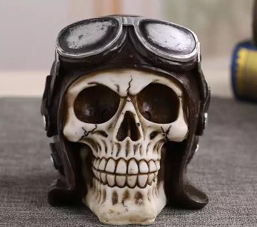 Skeleton Head Demon Skull Handicraft Rocking Statue শোপিস
