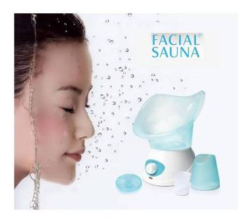 Beauty Facial Steamer Machine - White and Blue