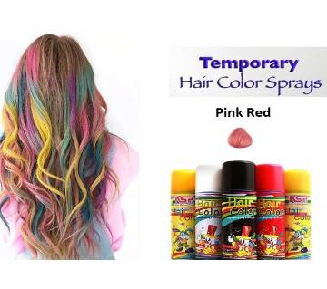 Temporary Hair colour spray Pink Red