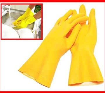 Cleaning Rubber Hand Gloves, Kitchen,Washing Toilet Cleaning,Garden (2 Pc)