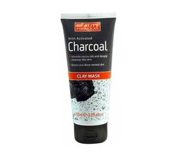Beauty Formulas Charcoal Clay মাস্ক 100ml UK