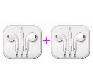 Apple Earphone (Replica) 2 pcs combo offer