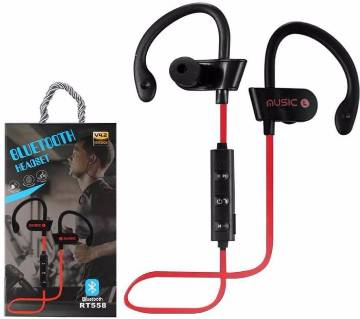 L4 Super-aural Bluetooth Wireless Earphone- RT558 Sport Bass Bluetooth Headset With Mic For All Phone