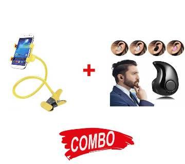 Smart Mini Wireless Bluetooth Earphone + Mobile Holder
