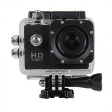 Full HD 1080P স্পোর্টস অ্যাকশন ক্যামেরা 12MP - ব্ল্যাক