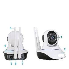 720P WiFi IP CCTV Live Video Camera V380