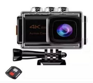 Sports Action Camera 4K WiFi EIS 16MP Ultra HD Waterproof with external microphone And Remote
