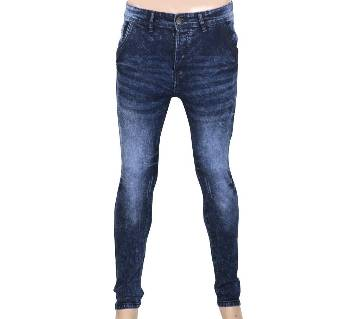 Blue Cotton Tawal Wash Jeans For men