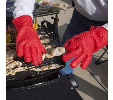 BBQ Oven Silicon Gloves - 1 pcs