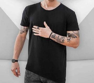 One Angle Cut Tee X Black Menz T-Shirt