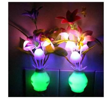 LED নাইট লাইট মাশরুম ফ্লাওয়ার প্লান্ট