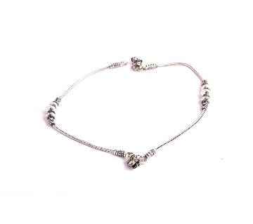 silver plated anklet
