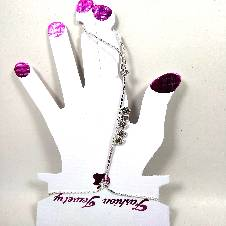 Finger chain bracelet with stone work