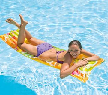 """Intex Inflatable Swimming Air Mat, 72"""" X 27"""" 5 Inch For Adults"""