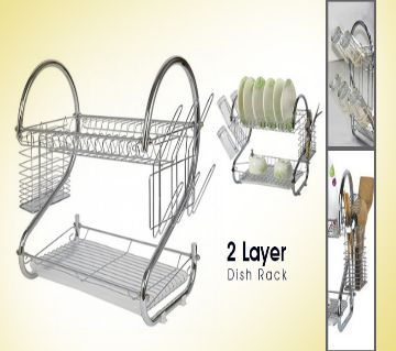 Stainless Steel 2 Layer Dish Drainer