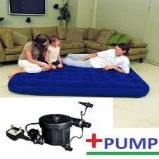 Double Air Bed  With Electric Pumper