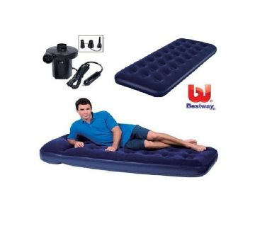 Single Inflatable Bed with Electric Pumper