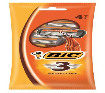 BIC 3 Sensitive Razor - 4pc pack