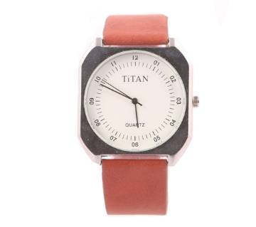 TITAN PU Leather Analog Wrist Watch for Men