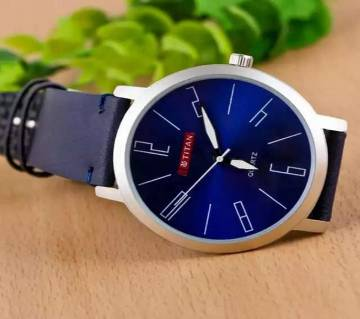 Titan Leather Analog Watch For Men-(Copy)