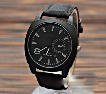 PU Leather Analoge Watch For Men-Black