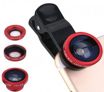 3 In 1 Universal Clip Camera Mobile Phone Lens