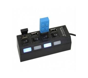 LED 4 port USB hub