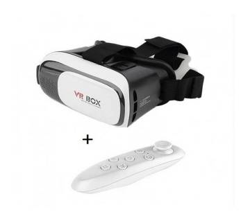 VR BOX 2.0 Virtual Reality 3D Glasses With Remote