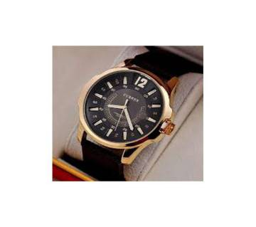 Leather Analog Wrist Watch For Men