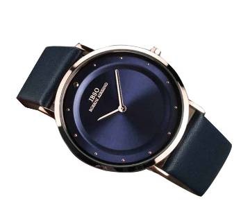 Leather analogs watch for men