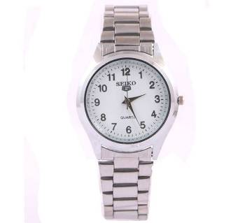 SEIKO Silver Dial Stainless Steel Watch For Boys & Girls
