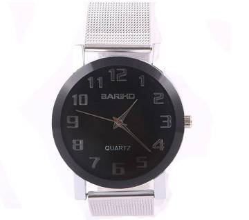 Bariho Stainless Steel Wrist Watch for Men - Silver Band-Copy