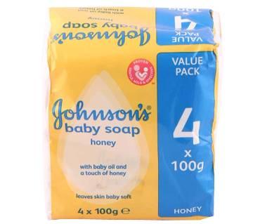 Johnson Baby Soap 4 Packs (Genuine UK Product)