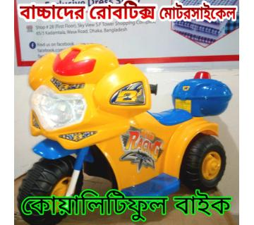 Rechargeable Baby Robot police Motorcycle